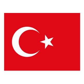 Postal con la bandera de Turquía