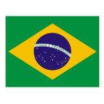 Postal con la bandera del Brasil