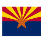 Postal con la bandera del estado de Arizona - los