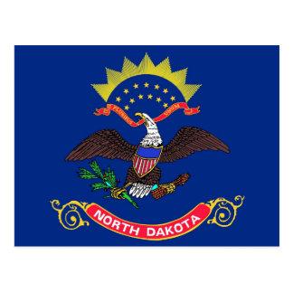 Postal con la bandera del estado de Dakota del Nor