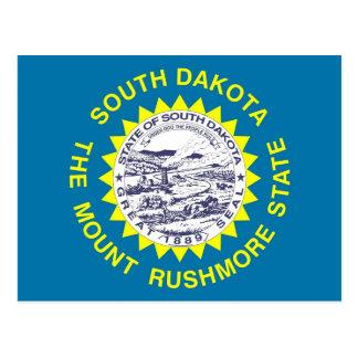 Postal con la bandera del estado de Dakota del Sur