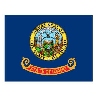 Postal con la bandera del estado de Idaho - los