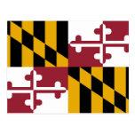 Postal con la bandera del estado de Maryland - los