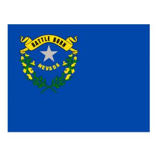 Postal con la bandera del estado de Nevada - los E