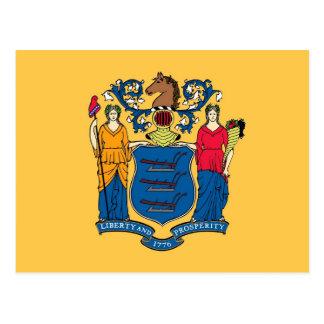Postal con la bandera del estado de New Jersey - l