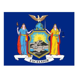 Postal con la bandera del Estado de Nuevo York - l