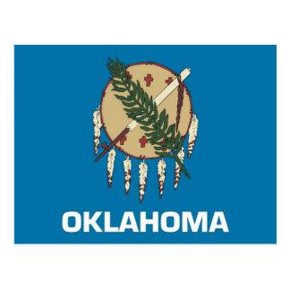Postal con la bandera del estado de Oklahoma - los
