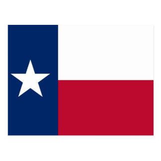Postal con la bandera del estado de Tejas - los