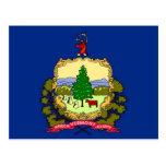 Postal con la bandera del estado de Vermont - los