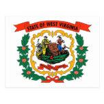 Postal con la bandera del estado de Virginia Occid
