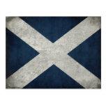 Postal con la bandera escocesa sucia