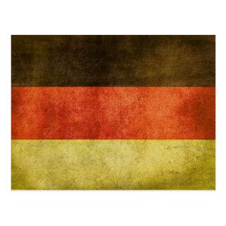 Postal con la bandera sucia de Alemania