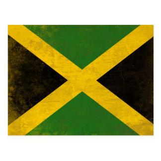 Postal con la bandera sucia de Jamaica