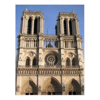 Postal con la catedral del Notre Dame de Paris