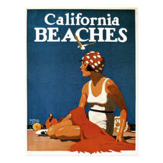 Postal con la impresión de California del vintage