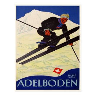 Postal con la impresión de la estación de esquí de
