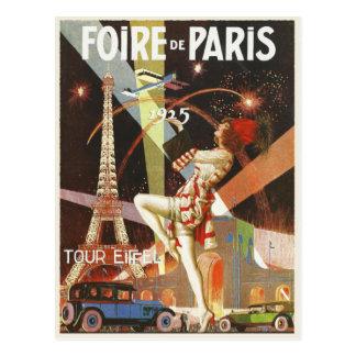 Postal con la impresión del art déco de París de l