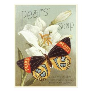 Postal con la impresión del jabón de las peras del