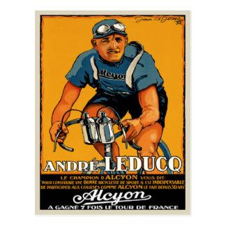 Postal con la impresión del poster de la bicicleta