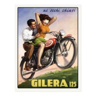 Postal con la impresión del poster de Moto del vin