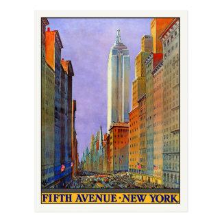 Postal con la impresión del poster de Nueva York d