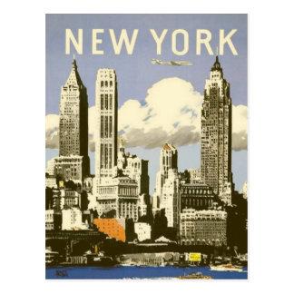 Postal con la impresión fresca de Nueva York del v