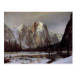 Postal con la pintura de Albert Bierstadt