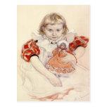 Postal con la pintura de Carl Larsson