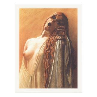Postal con la pintura de Carlos Schwabe