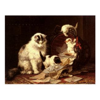 Postal con la pintura de Enriqueta Ronner-Knip