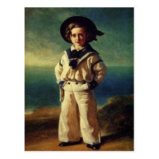 Postal con la pintura de Francisco Winterhalter
