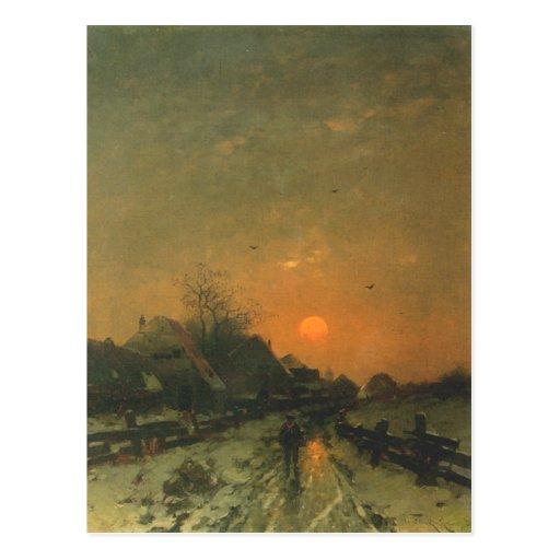 Postal con la pintura de Heinz Flockenhaus