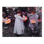 Postal con la pintura de John Singer Sargent