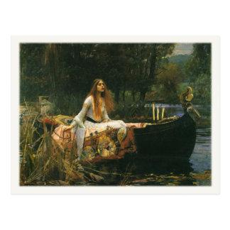 Postal con la pintura de John William Waterhouse