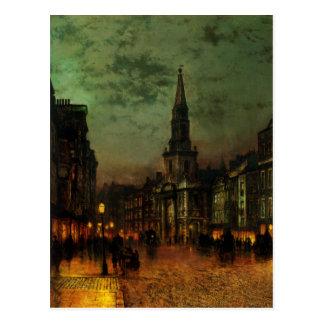 Postal con la pintura de Juan Atkins Grimshaw