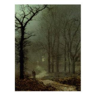 Postal con la pintura de Juan Atkinson Grimshaw