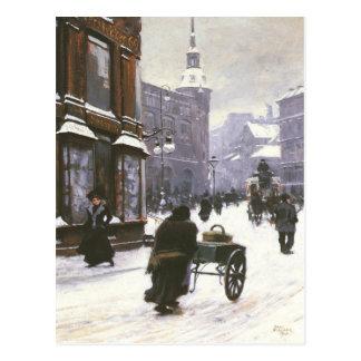 Postal con la pintura de Paul Gustavo Fischer