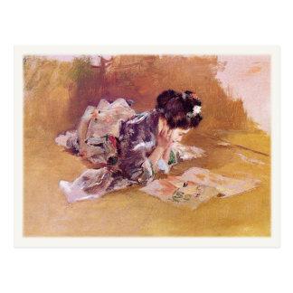 Postal con la pintura de Roberto Frederick Blum