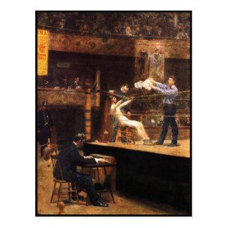 Postal con la pintura de Thomas Eakins