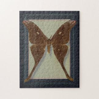 Postal con la polilla de Saturnidae Puzzles Con Fotos
