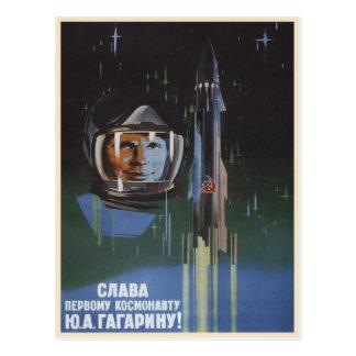 Postal con la propaganda de Unión Soviética del vi