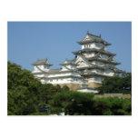 Postal con la vista del castillo de Himeji