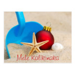 Postal con playas del navidad de Mele Kalikimaka