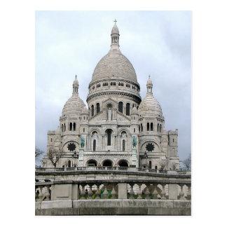 Postal con Sacre Coeur de París