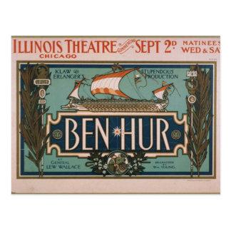 Postal con viejo estilo del teatro