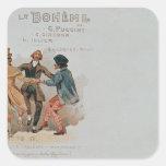 Postal conmemorativa La de la ópera ' Pegatina Cuadrada