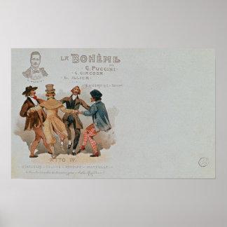 Postal conmemorativa La de la ópera ' Póster