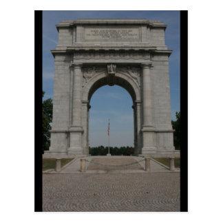 Postal conmemorativa nacional del arco