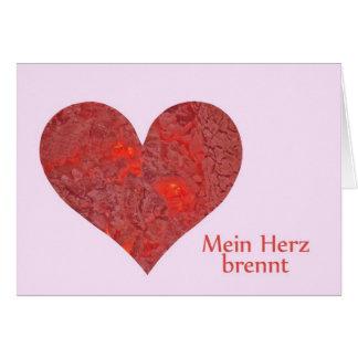 Postal corazón tarjeta de felicitación