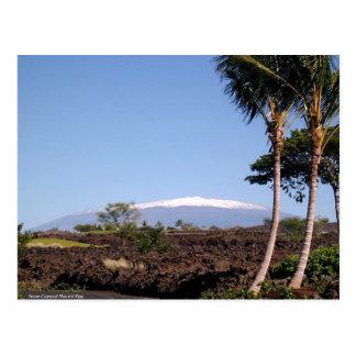Postal coronada de nieve de Mauna Kea